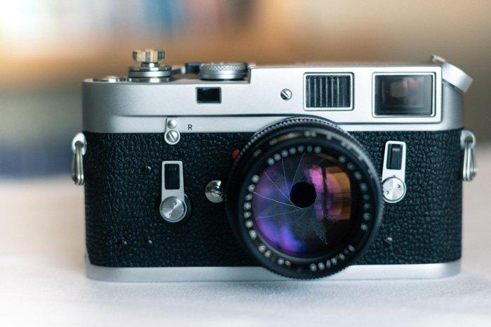 老电影照相机特写镜头