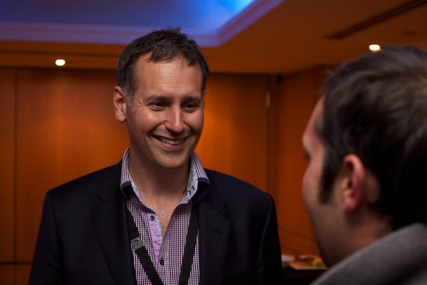 An image of two men talking - Corporate Event Photography