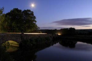 A serene landscape scene at night - when not to use a flash