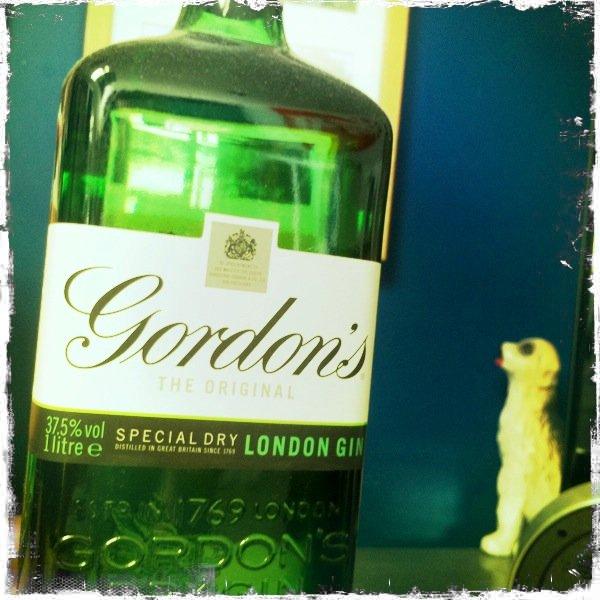 A poorly taken image of a Gordon's gin bottle - Photography Clichés