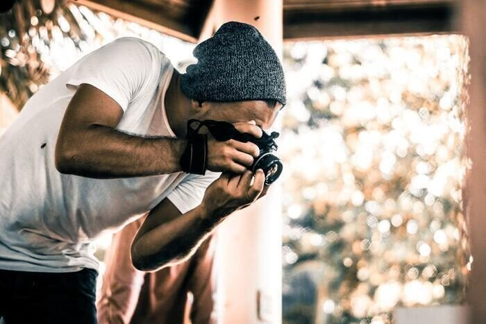 Photo of a guy with a camera