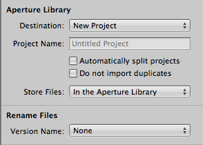 A screenshot of the Aperture Libraby
