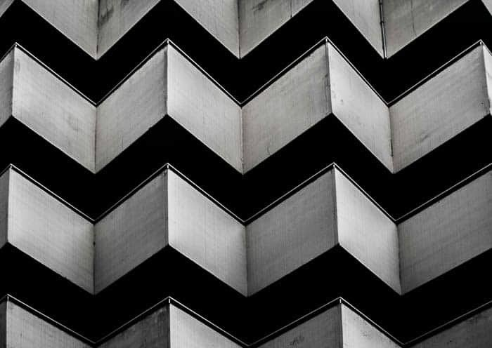 Black and white abstract architectural photo