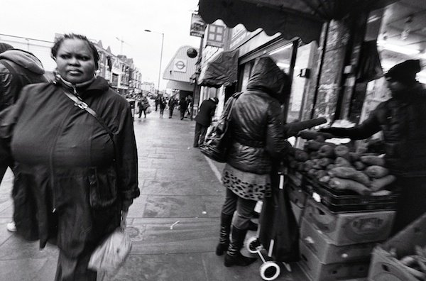 An everyday street scene - black and white street photography