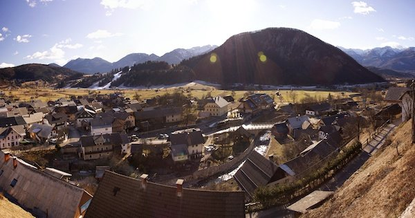 a wide angle view of a village - Photography Gear