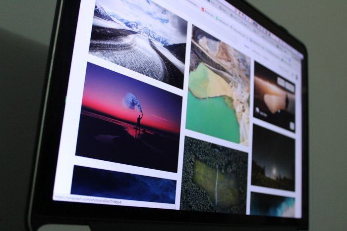 A close up of various photos on a computer screen