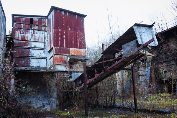 Abandoned lime works factory in Cocking