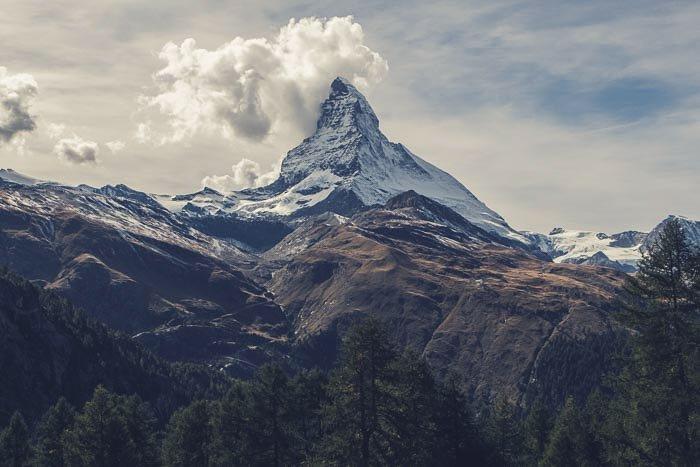A breathtaking mountainous landscape photography shot
