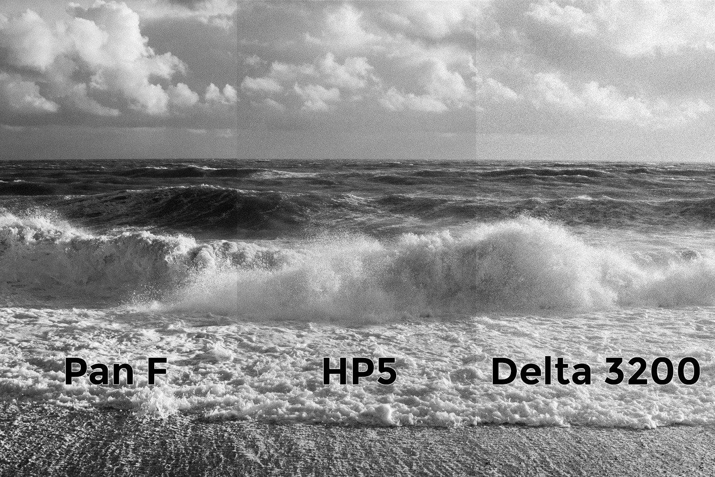 Pan F HP5 Delta 3200 Comparison