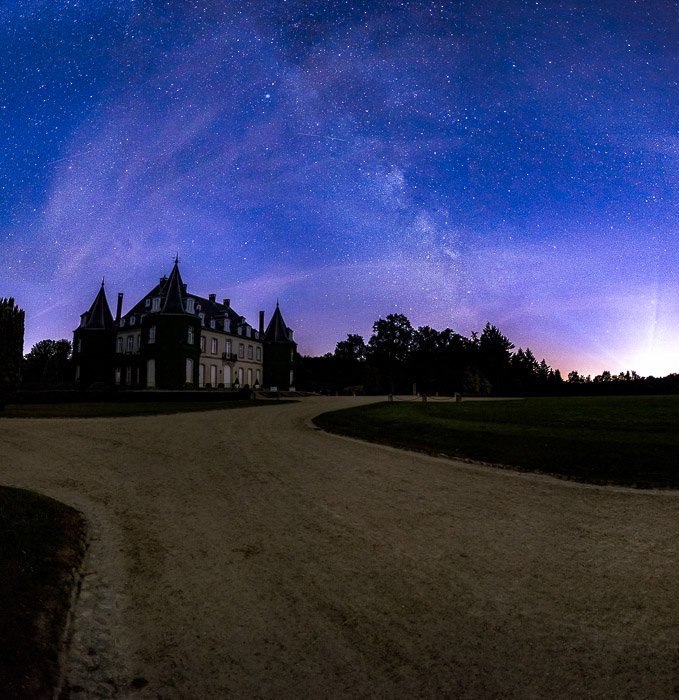 A night photo of the Chateau de la Hulpe, few miles from Brussels (Belgium)