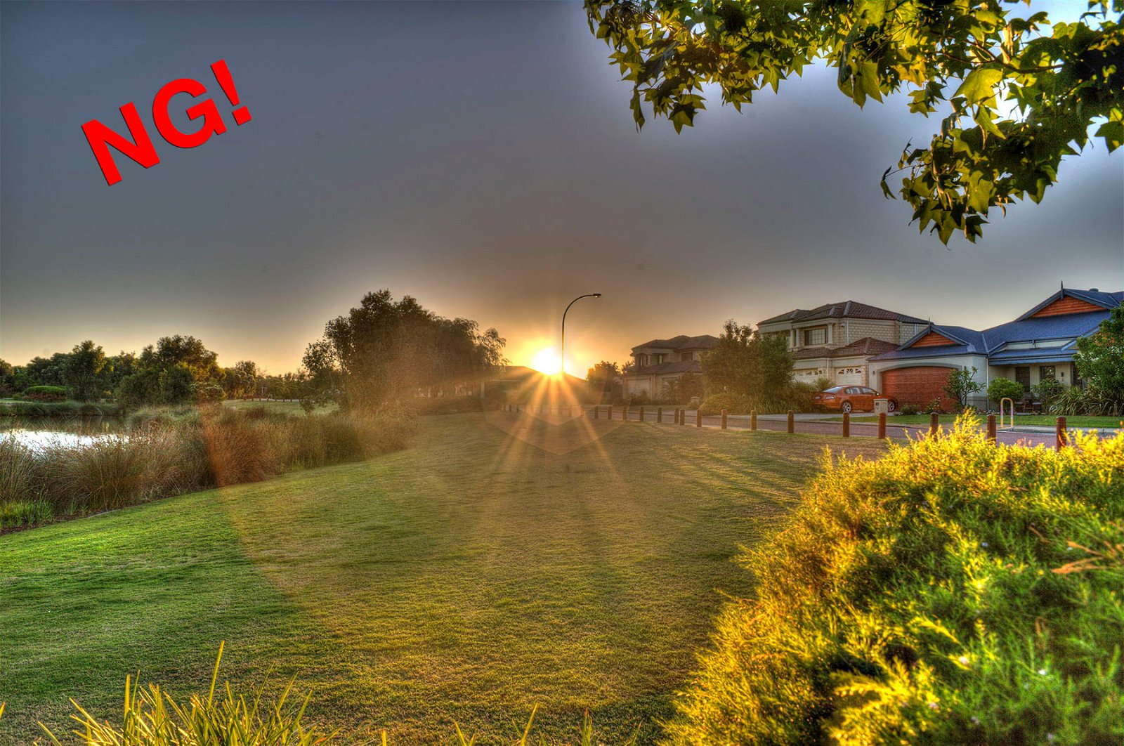 A bad example of an image processed with HDR software