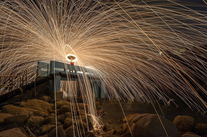 Steel Wool Photography Horizontal Spin