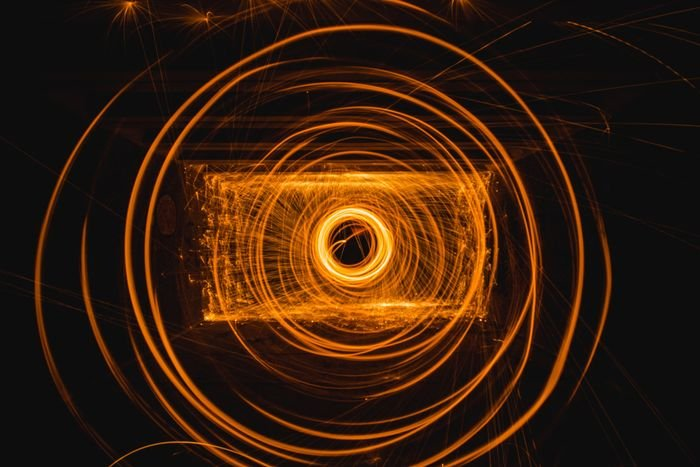 abstract photo with steel wool