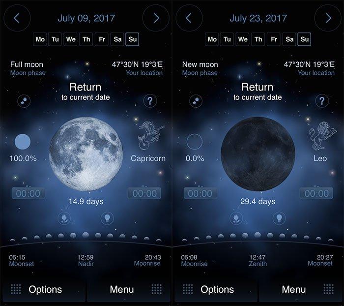 Screenshots of Deluxe Moon HD milky way application