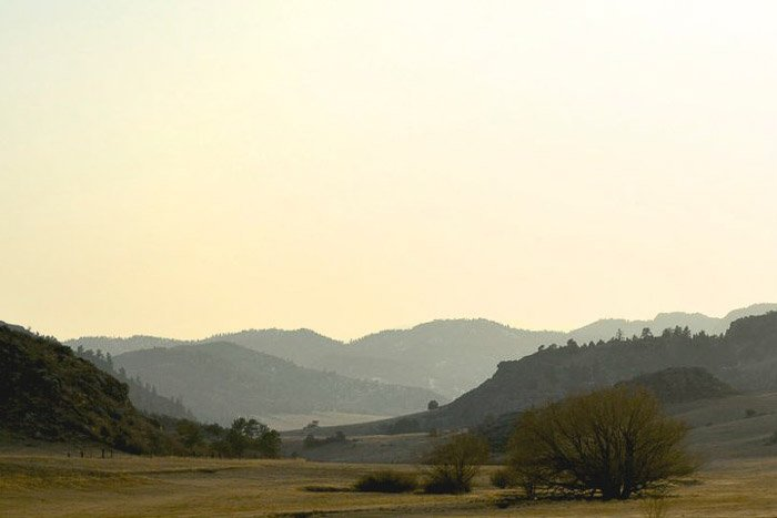 beautiful landscape in thermopolis, wyoming