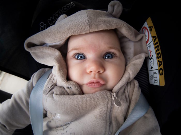 Fisheye Lens Photography: close-up baby picture