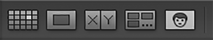 Screenshot of Lightroom library toolbar showing People View button