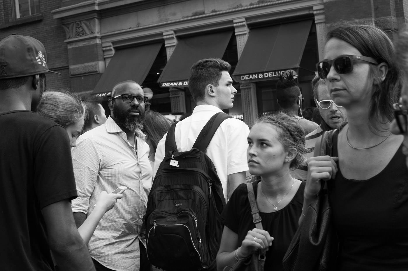 Street photography: Shot taken in crowd of pedestrians