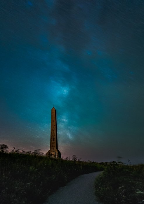 Filters for landscape photography: Example of Milky Way movement from stacked long exposures