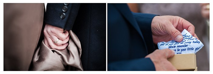 Photographing wedding details: Small intimate moments collage