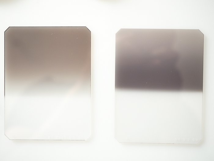 Filters for landscape photography: Example of rectangular GND filters
