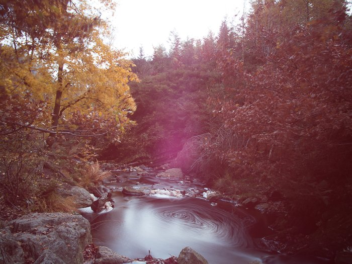 Filters for landscape photography: Example of spot caused by light leak from unsealed ND filter