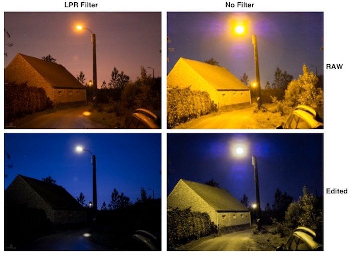 Filters for landscape photography: Example images with and without LRP filter