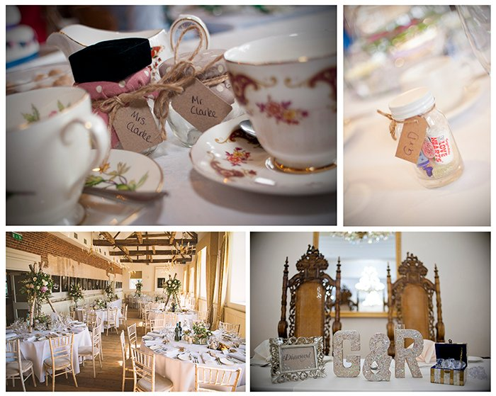 Photographing wedding details: Reception room collage