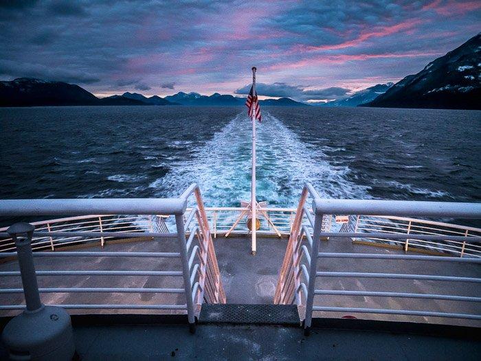 A stunning coastal photography shot from a ship
