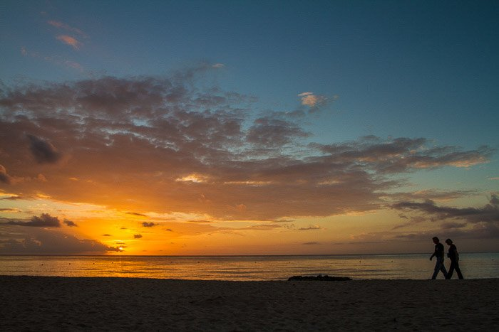 A stunning coastal photography shot at sunset