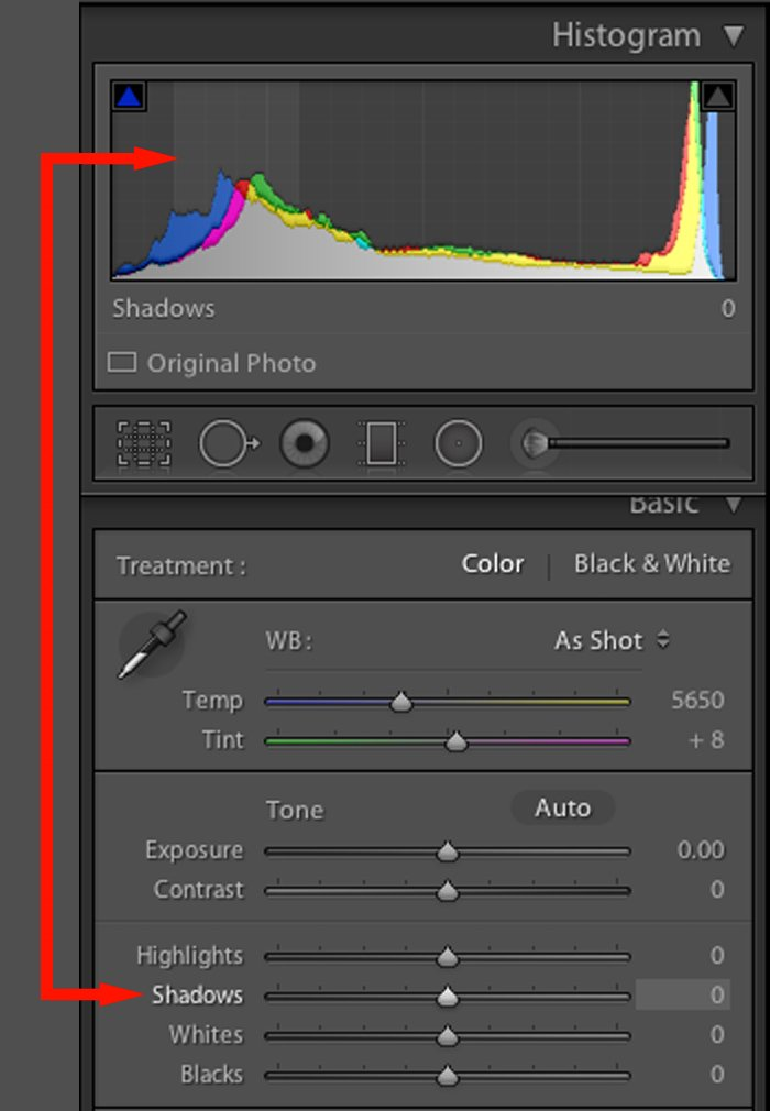 The settings and controls in the Adobe Lightroom Develop Module
