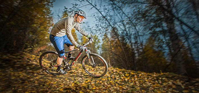 Adventure photography of a cyclist