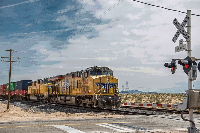A photo of a train with washed out colours - Shooting Raw vs jpeg