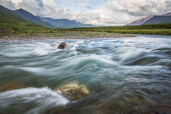 Slower shutter speeds create the illusion of soft and stunning flows of water.