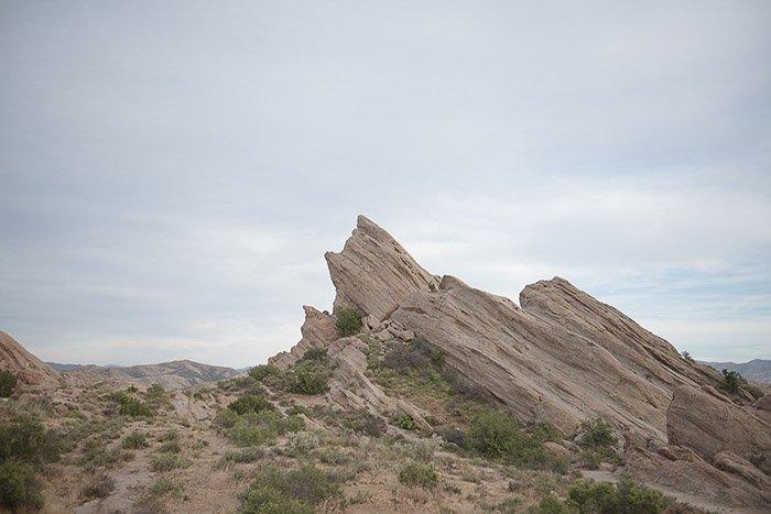 A Desert Landscape with the Vasquez Rocks - editing raw vs jpeg photos