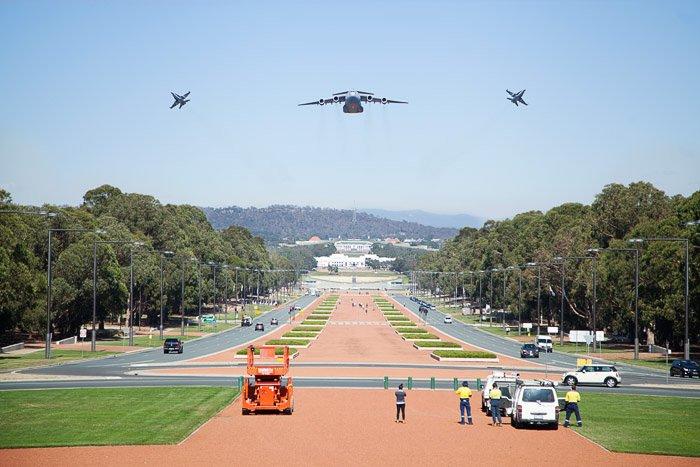 Airshow formation flight