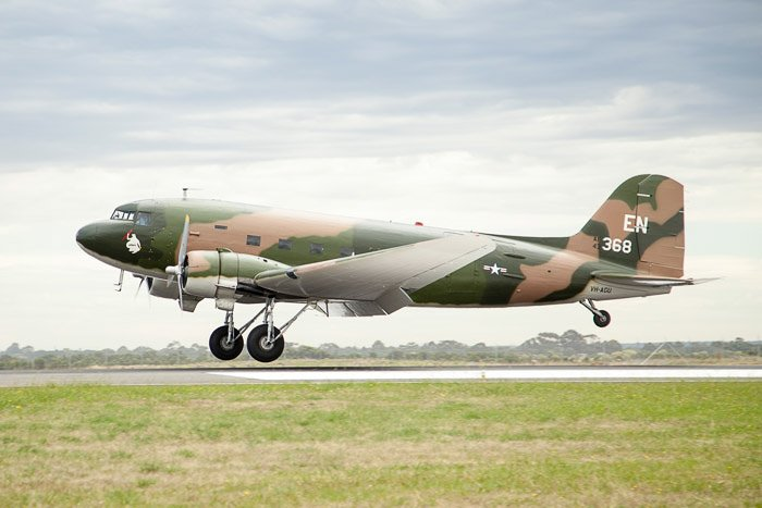 Military Cargo Plane on runway