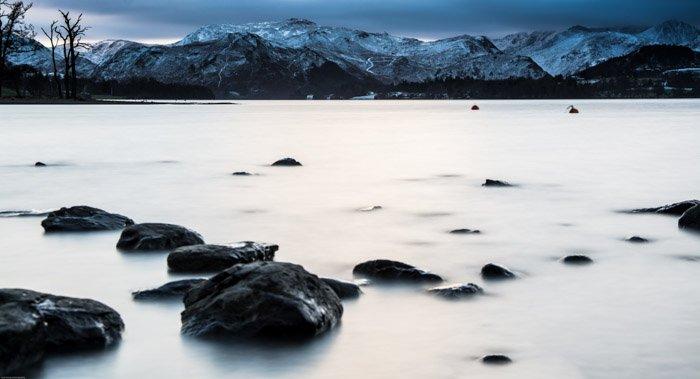 A winter landscape scene