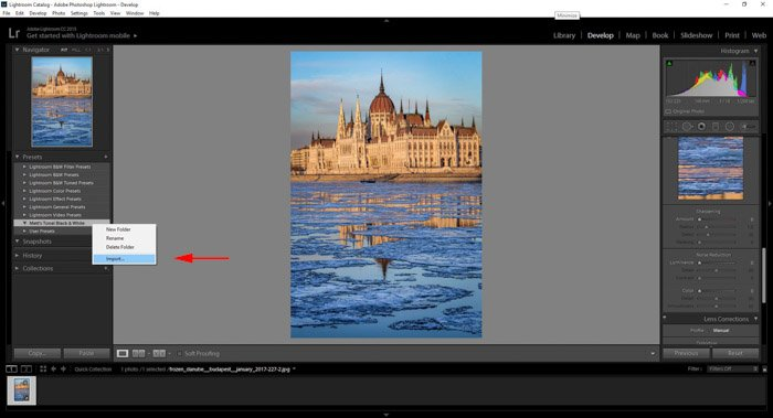 how to install presets in Photoshop lightroom cc adobe