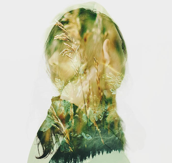 combining two double-exposure images for a creative result
