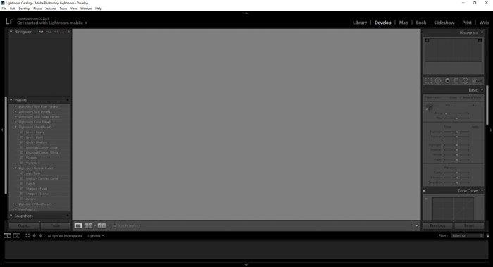 Adobe Lightroom interface screenshot