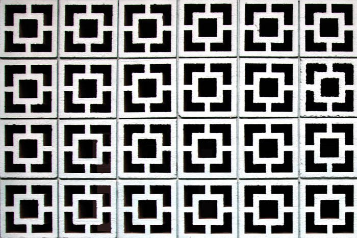 using pattern in composition, black and white tiles