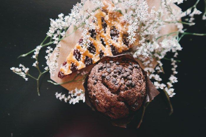 Overhead food photography shot using natural photography lighting