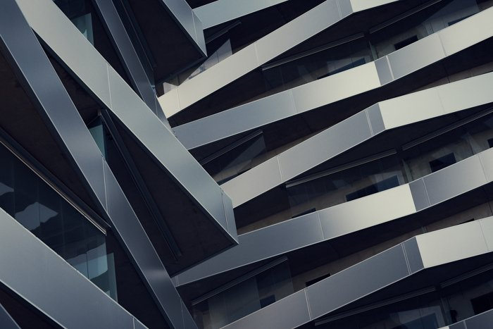 An interesting modern building featuring use of pattern in photography
