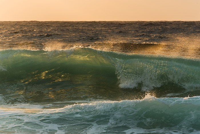 transparent waves in the ocean