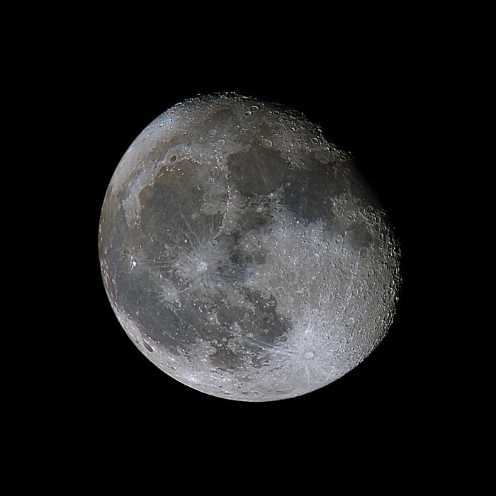 high definition edited photograph of the moon black and white
