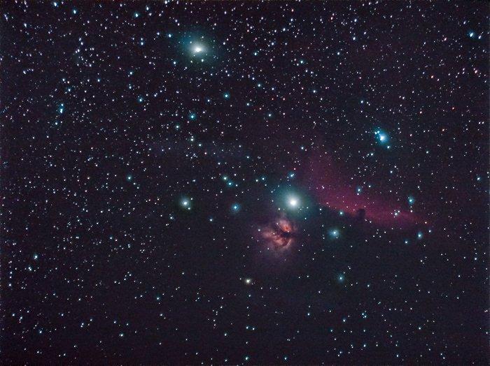 post processed astrophotography stellar constellation