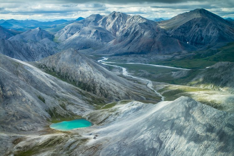 Aerial photography view of a beautiful mountainous landscape