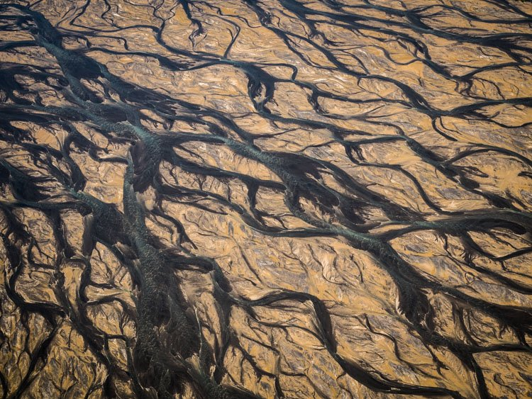 Aerial photography view of a desert landscape