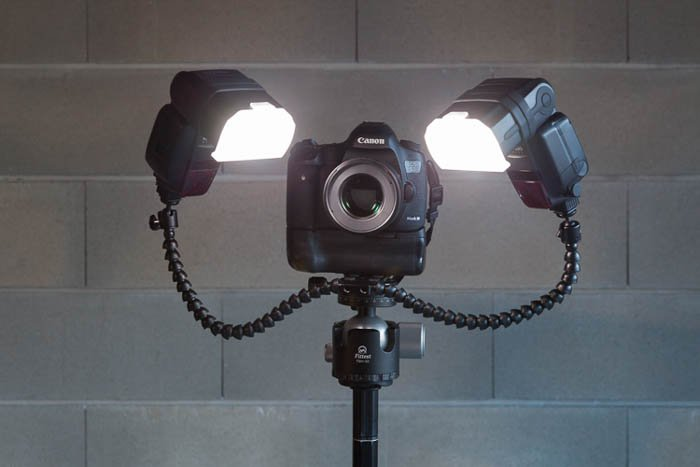 double flash set up on Canon camera